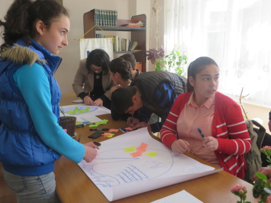 Participants are doing teamwork in Martuni