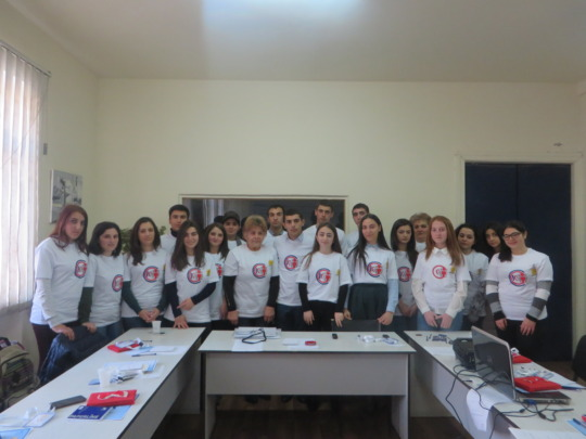Our participants with the ICT logo