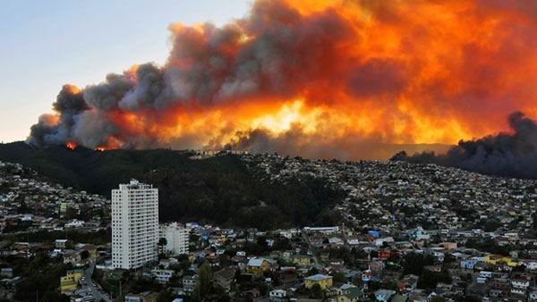 Supporting victims of the fire in Valparaiso-Chile