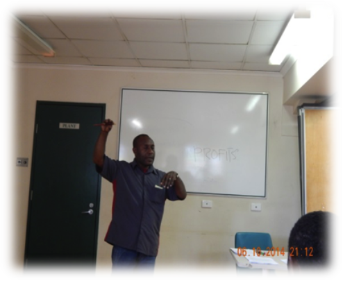 A staff of BRG conducting a lesson