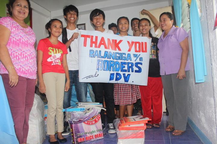 Kids and teachers send their thanks
