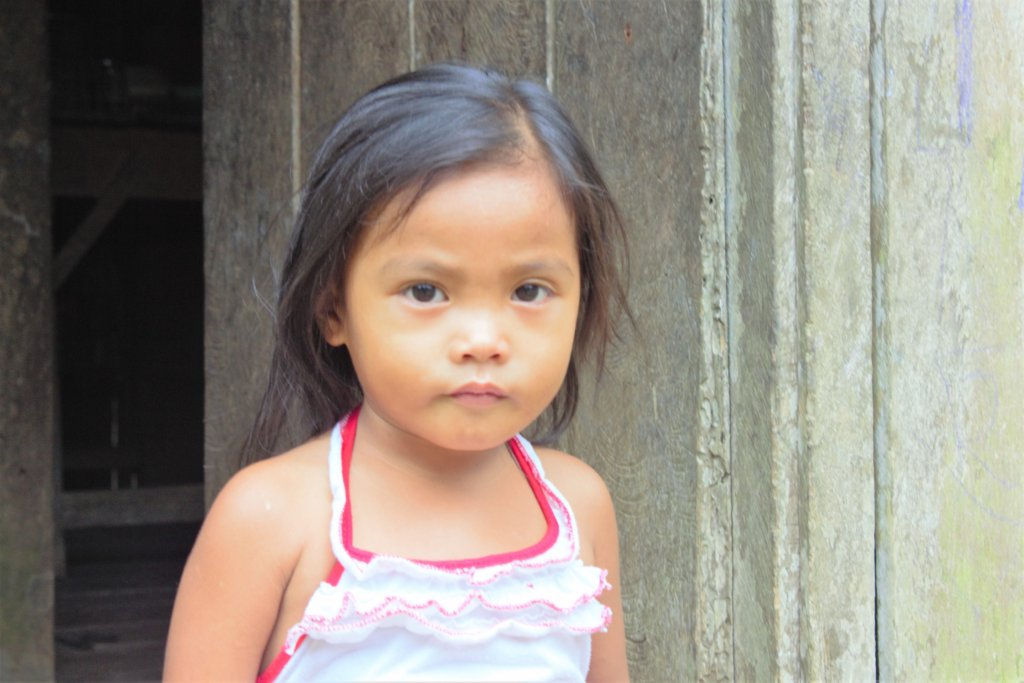 Three year old Erica lives in Matin-ao