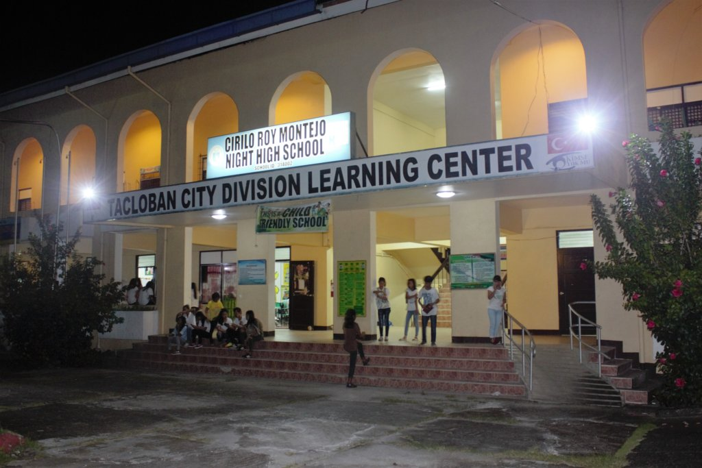A delivery to Tacloban City night school