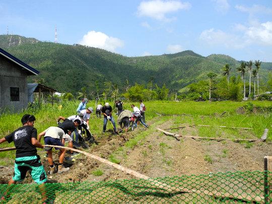 The first community garden