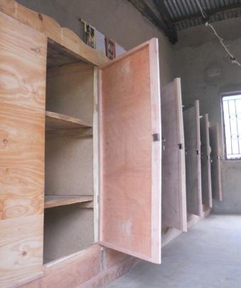 Classroom cupboards under construction