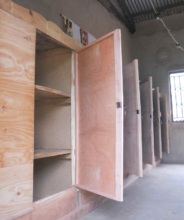 Classroom cupboards under construction