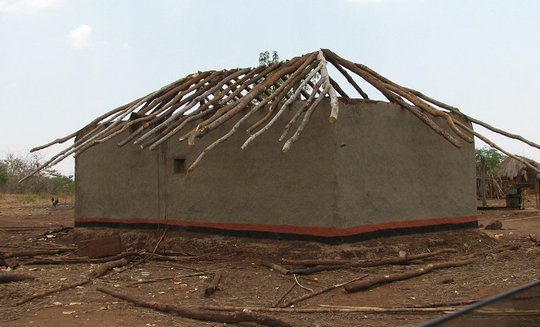 Local house under construction