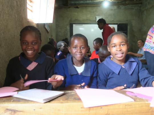 Girls in Transition Class enjoying craft time
