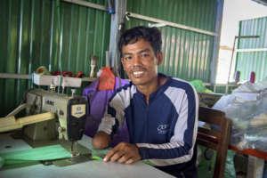 AAC member, landmine survivor.Photo: Burns Knierim