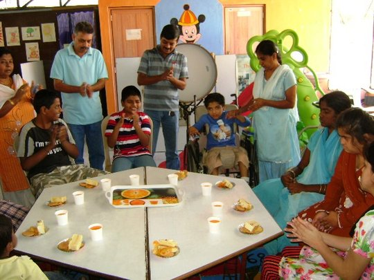 Daily Meals for disabled Children at Balajothi
