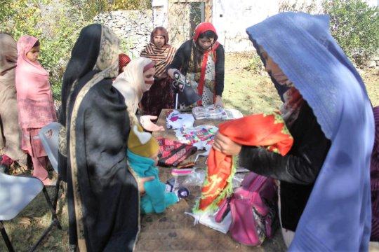 Ladies of Swat preparing beautiful embroidery