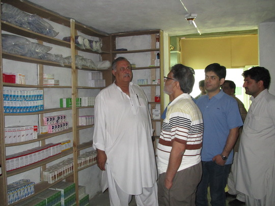 Anwar Iqbal visits our Pharmacy in Swat