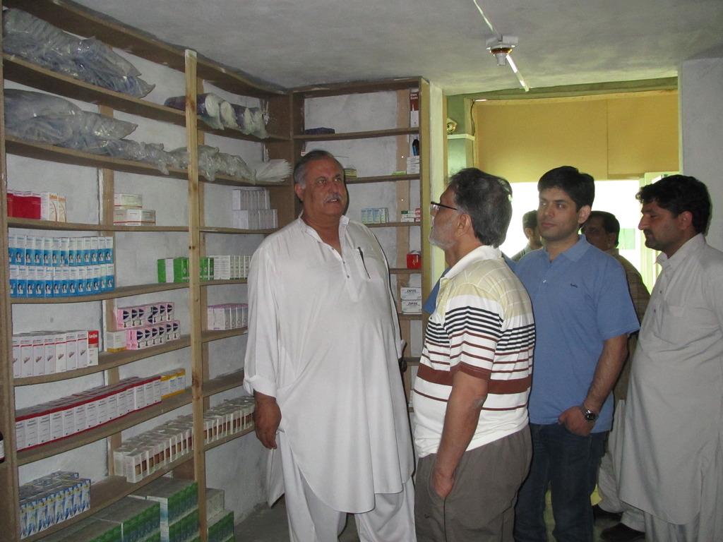 Anwar Iqbal visits our Pharmacy in Swat