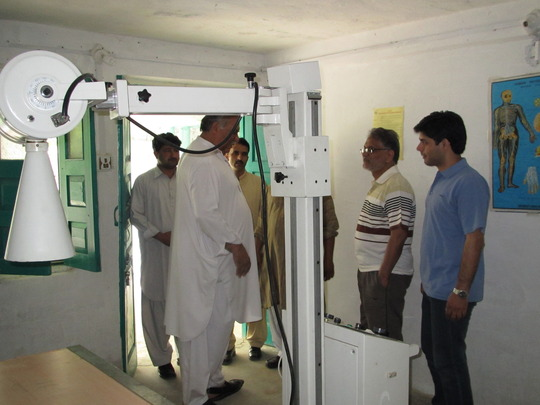 Anwar Iqbal visits our X-Ray Dept. in Swat