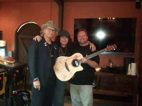 Matt Sorum of GnR with Lanny Cordola and Todd Shea