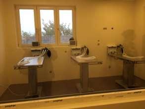 spay/neuter and veterinary training room