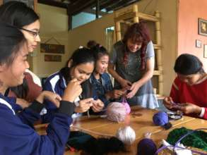 Knitting and crochet workshop on recycled goods!