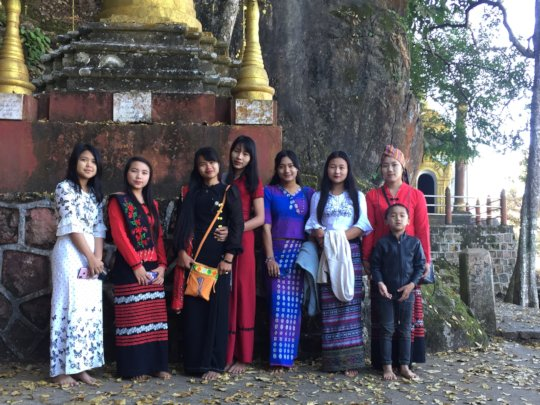 Visiting the local temple and caves around Kalaw