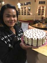 Aye Aung with new cake designs!