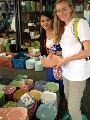 Gracie and Aye Aung in Bangkok for cafe shopping