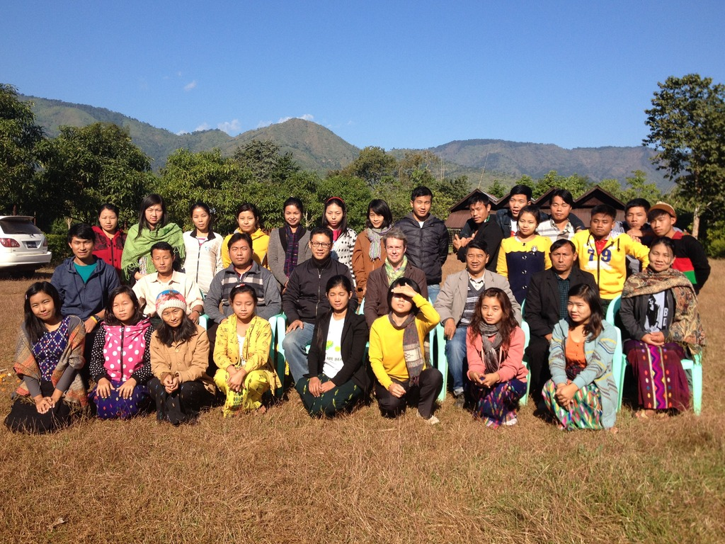 Training in Upper Myanmar-Kachin-knitting hats!!
