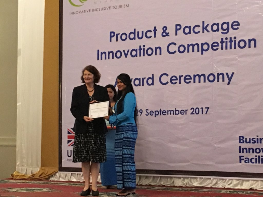 Aye Aung winning PPIC Award for Cafe!