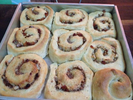 One of our new products; Cinnamon Rolls