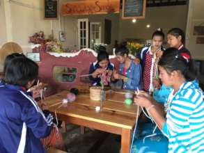 Handicraft training in crochet, knitting & sewing