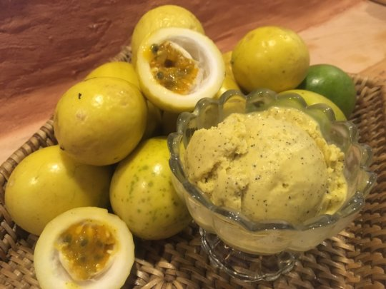 Passion fruit ice cream!