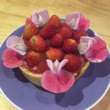Our new strawberry pie!