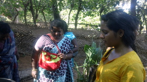 Ms.Neha from GlobalGiving visiting our village