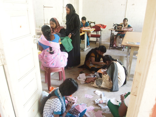 Dress making training for women
