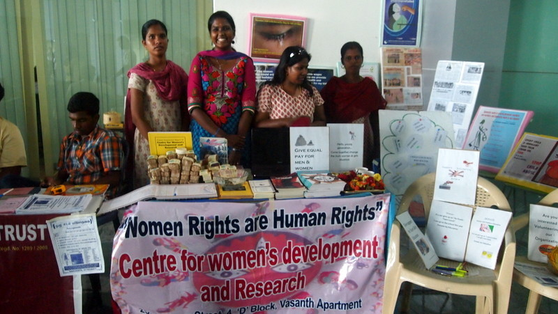 Fundraising stall in IT complex