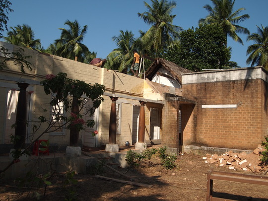 Roof repairing after Thane cyclone