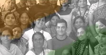 Deepa with Bollywood star Amir Khan