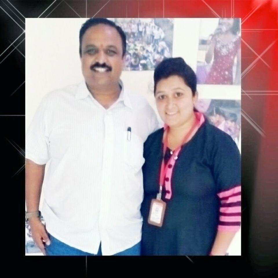 Deepa with founder Girish - her