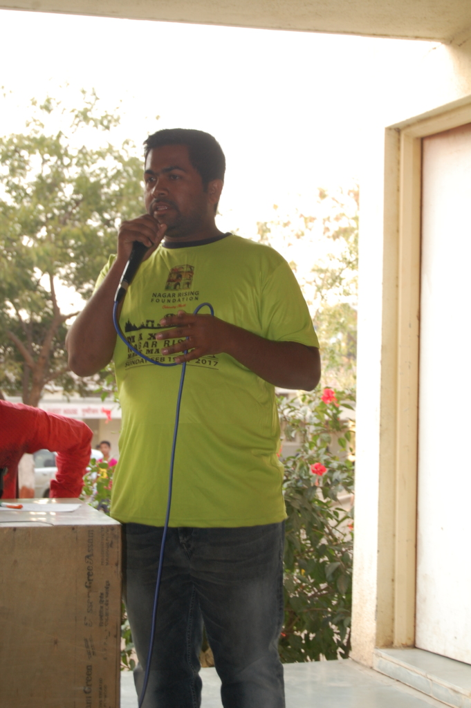 Vishal recently organised a camp for 80 youths