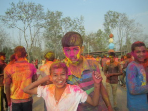 Holi provided a welcome break from exam revision.