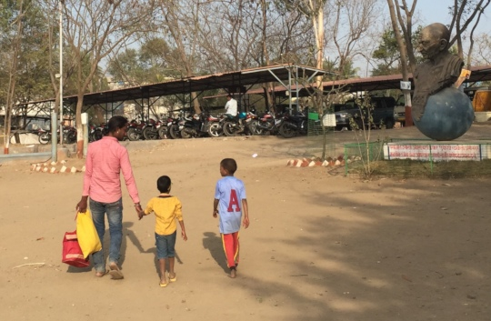 Suraj & Sandip enjoy a visit from their uncle
