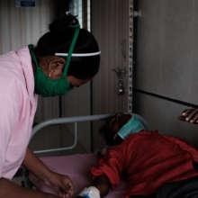 Our nurses care for HIV+ patients