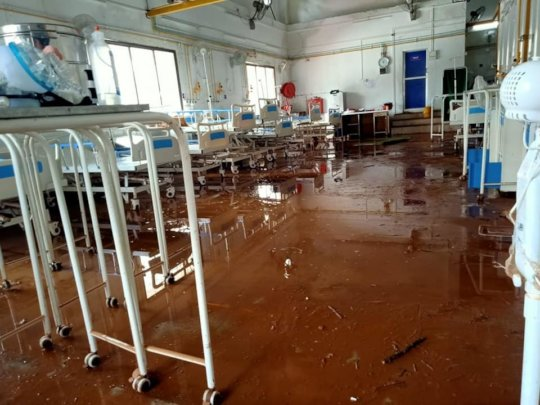 10 people were swept away from this COVID center