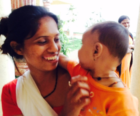 Pooja* & baby Sara* have found safety & sanctuary