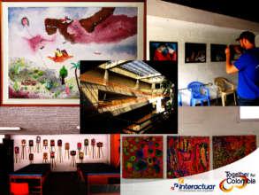A showcase of artwork done at Asociacion Amigos