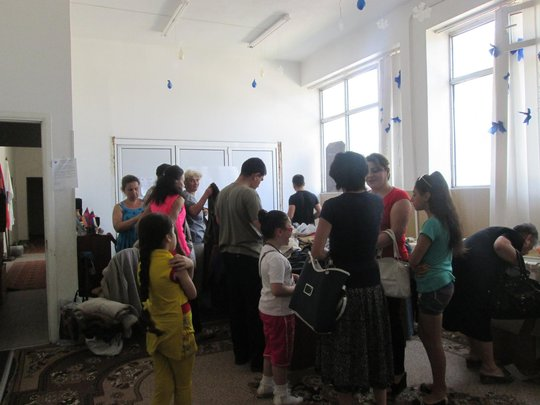 Beneficiaries and Community Gather at our Offices