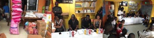 Visit of Cameroonian footballer Bassogog