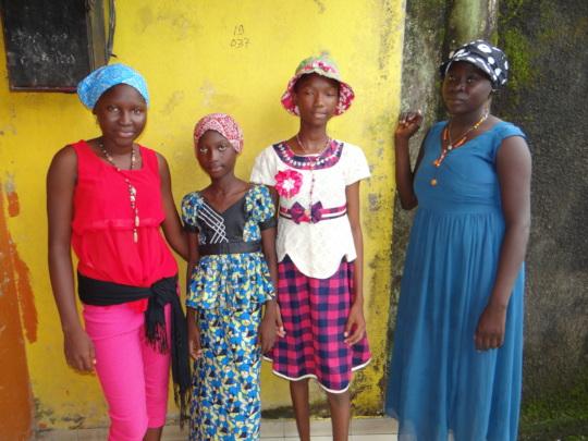 Integration of some girls at the AGAPE Center