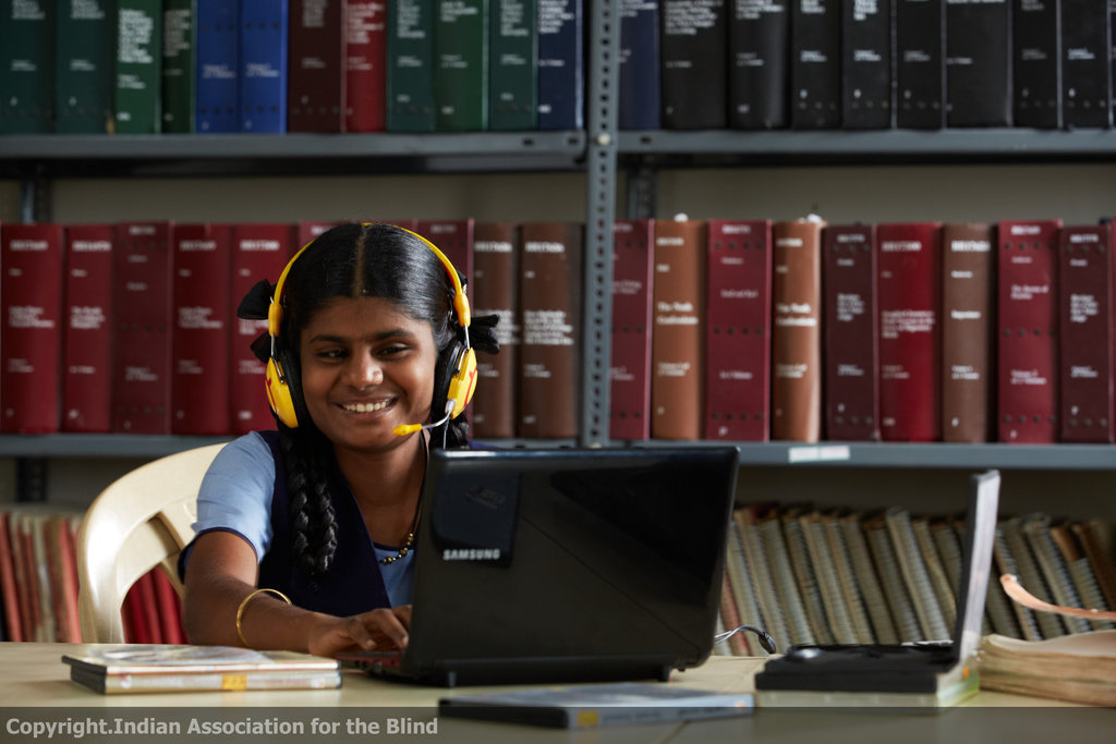 Educate a visually challenged child for one year