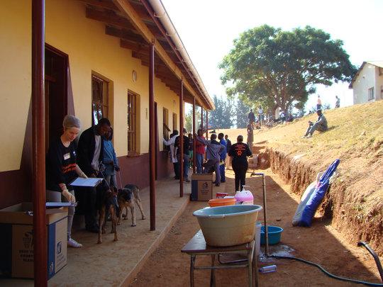 Mshingishingini Primary transformed into a clinic.