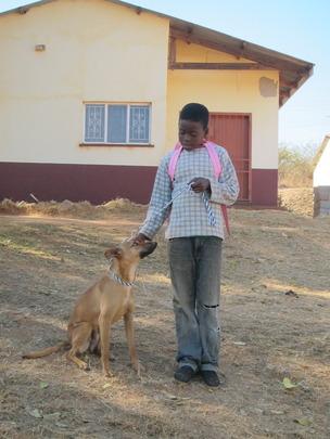 Menzi and his dog Danger