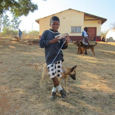 Ntuthuko and his dog